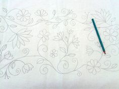 Crewel Embroidery, Mexican Embroidery, Hand Work Embroidery, Embroidery Needles, Hand Embroidery Patterns, Applique Patterns, Floral Embroidery, Beaded Embroidery, Fabric Patterns