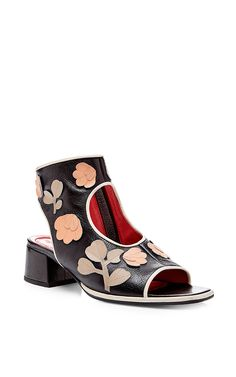 Embellished Open Toe Ankle Boots by Marni Now Available on Moda Operandi
