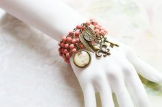 DELICATE ROSE 5pcs. Bracelets made of brass and by OhKsushop