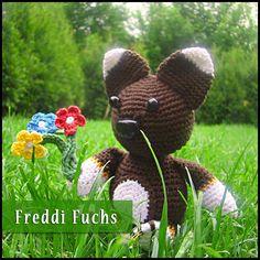 """Amigurumi Häkelanleitung Freddi Fuchs » Sie möchten einem lieben Menschen einmal ganz besonders """"Danke"""" ..."""