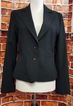 Express Design Studio Womens Blazer Black One Button  Sz 4 Career Jacket  #ExpressDesignStudio #Blazer #Career