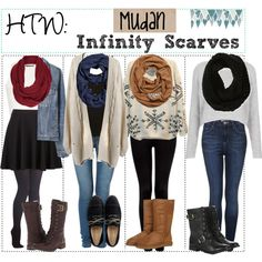 HTW: Infinity Scarves by y0ur-tip-girls on Polyvore featuring Topshop, Proenza Schouler, Forever New, Timberland, UGG Australia, Sole Society, Cole Haan, Aéropostale, Portolano and Sperry