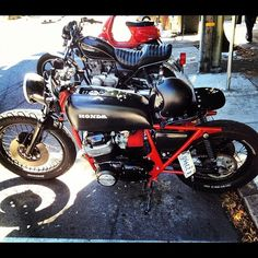 peteryanphotography:  It started with so much potential. #california #sanfrancisco #haight #motorcycle #caferacer #honda (Taken with Instagram)