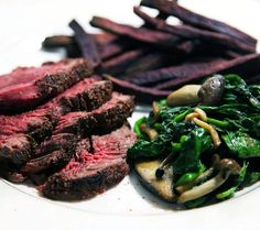 5spice steak with purple yam fries  www.whatscookingwithdoc.com  jefenster