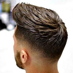 Low Taper Fade with Textured Top Hair! I love this for my son <3