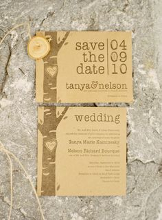 natural wood save the date and wedding invitation Autumn Wedding, Spring Wedding, Rustic Wedding, Our Wedding, Dream Wedding, Wedding Stuff, Wedding Wishes, Wedding Beauty, Wedding Dreams