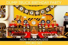 Volquete cumpleaños fiesta paquete colección establece los Micro imprimible / / descarga de camiones - B82Nz1