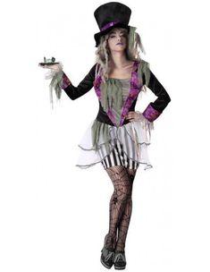 Disfraz de Sombrerera Zombie para Mujer | Comprar Online