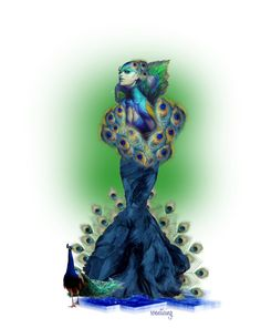 """""""Peacock Dreams"""" by soenticing ❤ liked on Polyvore featuring art"""