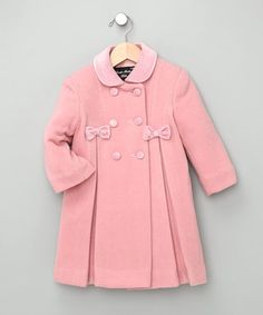 This Trilogi Pink Bow Wool-Blend Swing Coat - Infant by Trilogi is perfect! #zulilyfinds