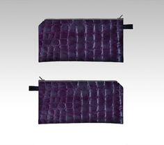purple faux croco pencil case by akaclem (Pencil case) - Art of where