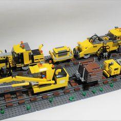 Lego Train Tracks, Lego Trains, Old Ties, Lego City Sets, Lego Mechs, Lego Projects, Custom Lego, Train Layouts, Train Set