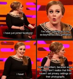 Even Adele is a normal girl