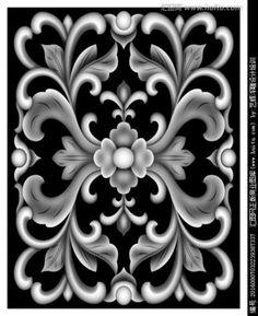 欧式浮雕线灰度图_360图片 Wood Carving Patterns, Carving Designs, Alpha Art, Sun Crafts, 3d Wallpaper Design, Grayscale Image, 3d Art, 3d Pattern, Art Of Glass