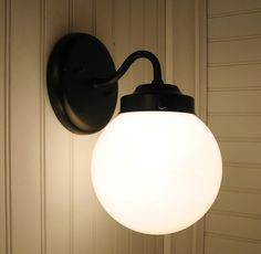 WALL SCONCE Lighting Winterport II. Globe  Light Fixture by LampGoods