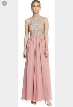 eb52083caff3 Aidan Mattox Pink Sequin Racer back Embellished Gown Dress Size 2