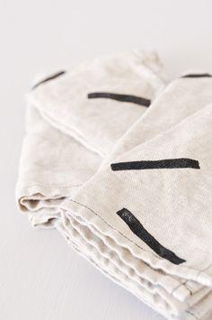 Handprinted Linen Napkins - handmade in New York - www.koromiko.com