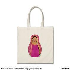 Pakistani Girl Matryoshka Bag