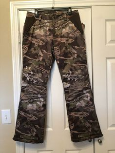 d4a77f2fe307a Ad(eBay) Stunning Under Armour Forest Camo Womens Wool Hunting Pants Size 10