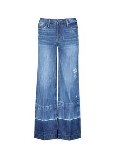 Tortoise | Letout cuff washed wide leg jeans