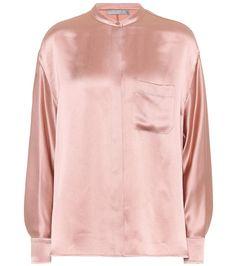 VINCE Silk-satin shirt. #vince #cloth #