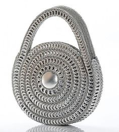 bag made out of can ring pulls