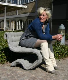 Concrete Cloth Chair by Anne-Mette Manelius Concrete Cloth, Concrete Table, Concrete Cement, Concrete Furniture, Concrete Crafts, Concrete Garden, Concrete Projects, Concrete Design, Concrete Planters