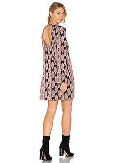 4e43be8931cc6 WAYF Malone Plunge Mini Dress in Black Floral