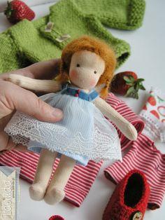 Tiny waldorf doll made by Lalinda.pl
