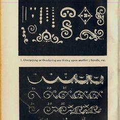 Cake piping patterns