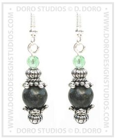 Russian Jade Bead Earrings by D.Doro. of by DanDoroArtAndDesign, $15.95