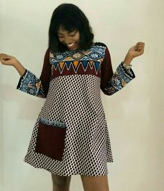 Latest Plain And Pattern Styles For Ladies: 55 Beautiful Plain And Patterned Ankara Designs 2019 Latest Ankara Dresses, Short African Dresses, Ankara Dress Styles, Ankara Gowns, Short Gowns, Robes Ankara, African Fashion Ankara, Latest African Fashion Dresses, African Print Fashion