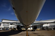 Underview of new american airlines plane