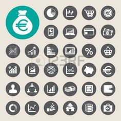 Business and finance icon set.Illustration  photo