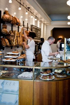 Eva's Bakery | Salt Lake City, UT...this is the counter but not rounded or the material... love the display...