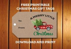 Free printable Red Truck Christmas Gift Tags for adorning all your holdiay packages with a retro truck hauling a Christm Christmas Red Truck, Christmas Gifts For Wife, Christmas Humor, Christmas Fun, Funny Christmas Ornaments, Nordic Christmas, Christmas Outfits, Christmas Candles, Modern Christmas