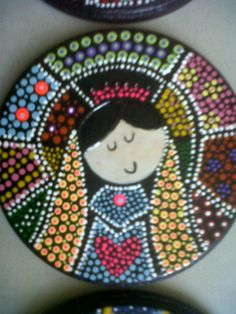 Xmas Crafts, Wood Crafts, Arte Country, Religious Paintings, Tangle Art, Dot Art Painting, Arte Popular, Mandala Art, Hobbies And Crafts