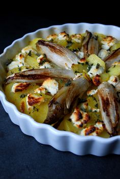 Potato and Endive Gratin with Chèvre and Thyme ° eat in my kitchen