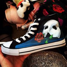 Phantom of the Converse Hand Painting By Hand Custom All Star Shoes Me
