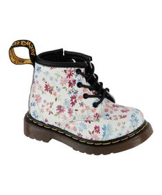 Another great find on #zulily! Blue Floral Brooklee B Boot - Girls by Dr. Martens #zulilyfinds