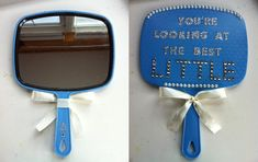 Decorated handheld mirror for sorority little Cheer Sister Gifts, Big Sister Little Sister, Cheer Gifts, Big Sis Lil Sis Gifts, Alpha Phi Omega, Alpha Chi, Delta Gamma, Chi Omega, Tri Delta
