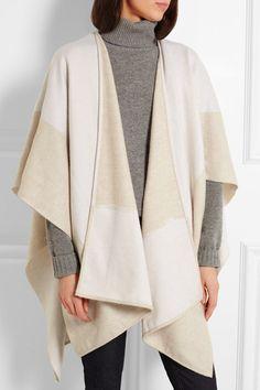 Balenciaga | Two-tone cashmere and wool-blend wrap | NET-A-PORTER.COM