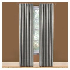 Shop Style Selections Roberta 84-in L Solid Blue Thermal Rod Pocket Curtain Panel at Lowes.com