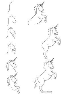 dessin licorne