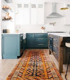 I'm committed to green cabinets and copper hardware in our kitchen. Today is the day I choose the color! We are currently in the… Kitchen Living, New Kitchen, Kitchen Decor, Green Kitchen, Kitchen Ideas, Green Cabinets, Kitchen Cabinets, Colored Cabinets, Upper Cabinets