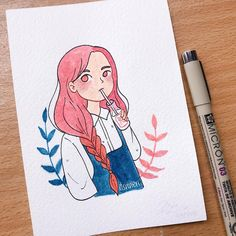 Pin by halogencrafts on art and doodles in 2019 dibujar arte, dibujos con a Cartoon Kunst, Cartoon Drawings, Cute Drawings, Drawing Sketches, Marker Kunst, Marker Art, Cartoon Art Styles, Cute Art Styles, Kunst Inspo