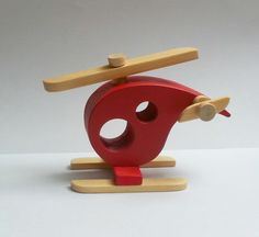 Wooden Helicopter by Ntoys on Etsy