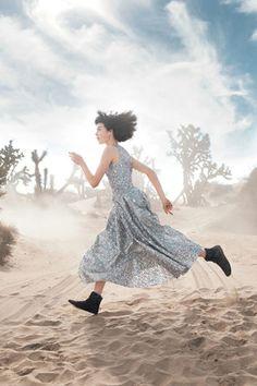 running thru magical desert