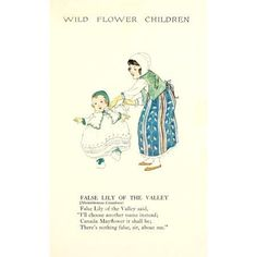 Wild Flower Children c1918 False Lily of the Valley Canvas Art - Janet Laura Scott (18 x 24)