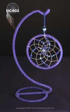types of dream catcher webbing | Blue crystal Dreamcatcher with stand - DreamCatcher.com